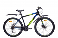 Велосипед горный MTB Аист Aist Quest Disc black/blue/yellow